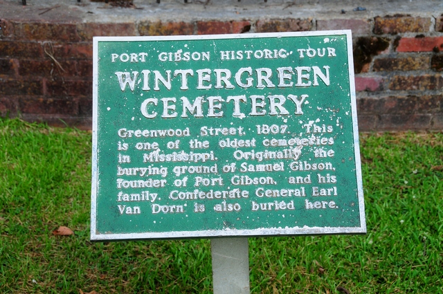 Wintergreen Cemetery at Port Gibson, MS