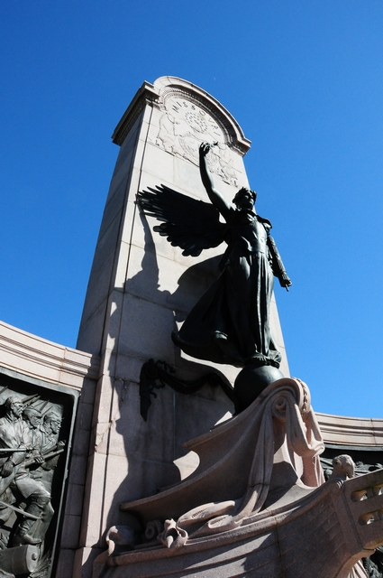The monument features a bronze angel which represents The Spirit of the Republic. 2/26/12